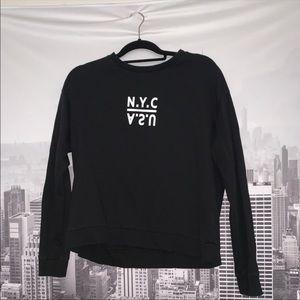 FINAL SALE: Black Printed Sweater
